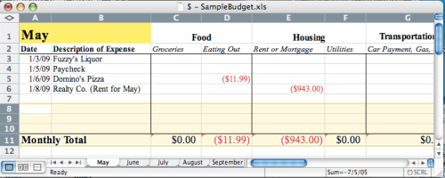 BudgetSnapshot